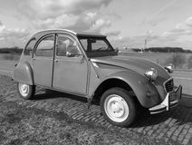 Citroën 2CV deux chevaux - black and white Stock Photos