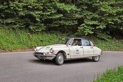 Citroën DS19 (1957) in verzameling Mille Miglia 2013 Stock Fotografie