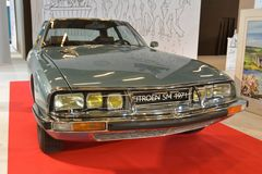 Paris Motor Show 2018 - Citroen SM 1971. The Citroën SM is a high-performance coupé produced by the French manufacturer Citroën from 1970 to 1975. The stock photography