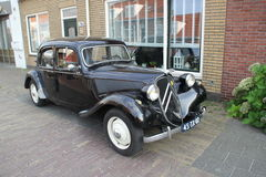 Citroën Traction Avant. A black Citroën Traction Avant oldtimer from the 1930s Stock Photography