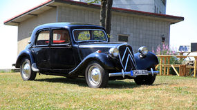 Citroën Traction Avant. Historik car Citroen Avant at Cerchov stock image