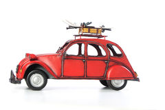 Citroen. A classical car that marked an epoch.  It´s a photo of a metal miniature Stock Images