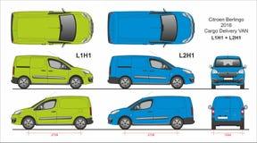 Citroen Berlingo Ładunek Van L1H1 i L2H1 2016 teraźniejszość ilustracji