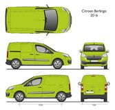 Citroen Berlingo 2016 Professional Cargo Van vector illustration