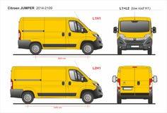 Citroen bluzy ładunek Doręczeniowy Van L1H1 2014-2019 i L2H1 ilustracji