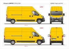 Citroen bluzy ładunek Doręczeniowy Van L3H3 2014-2019 i L4H3 ilustracji