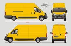 Citroen bluzy ładunku Van 2017 L4H3 projekt ilustracji