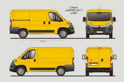 Citroen bluzy ładunku Van 2017 L1H1 projekt ilustracja wektor