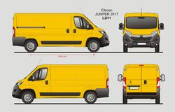 Citroen bluzy ładunku Van 2017 L2H1 projekt ilustracja wektor
