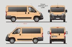 Citroen bluzy Pasażerskiego Van 2017 L1H1 projekt ilustracji