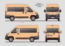 Citroen bluzy Pasażerskiego Van 2017 L1H2 projekt ilustracji