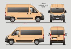 Citroen bluzy Pasażerskiego Van 2017 L2H2 projekt ilustracji
