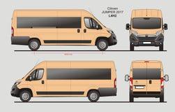 Citroen bluzy Pasażerskiego Van 2017 L4H2 projekt royalty ilustracja