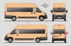 Citroen bluzy Pasażerskiego Van 2017 L4H3 projekt ilustracja wektor