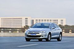 Citroen C5 on the expressway, Beijing, China Royalty Free Stock Photos