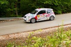 Citroen C2 on Miskolc Rally Hungary. 2016 Royalty Free Stock Photos