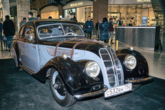 Citroen 11c. Moscow, Russia - April 02, 2017: Citroen 11c, Traction Avant, France 1953. Retro car exibition in shopping mall Metropolis Royalty Free Stock Images