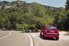 Citroen C3, road in Croatia Royalty Free Stock Images
