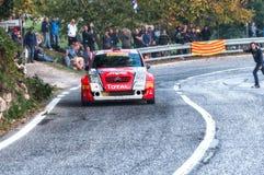 CITROEN C2 S1600 2005 samlar den gamla tävlings- bilen Royaltyfri Fotografi