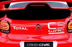 Citroen C3 WRC Rallye samochód wyścigowy Obraz Royalty Free