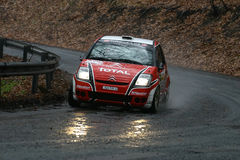 Citroen C2 rally car Royalty Free Stock Photography