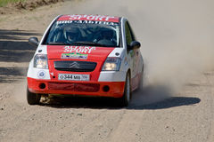 Citroen C3 at Russian rally Stock Image
