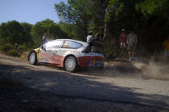 Citroen C4 WRC. Dany Sordo and Citroen C4 wrc in the Shakedown of the 54th Acropolis Rally of Greece Stock Images