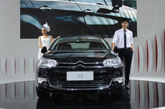 Citroen c5 and model Stock Photography
