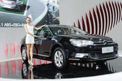 Citroen c5 and model Stock Image