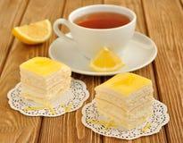 citroen cakes stock afbeeldingen