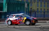 Citroen car at Moscow City Racing Stock Image