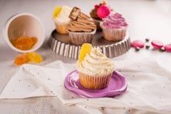 Citroen cupcakes Stock Afbeelding