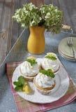 Citroen cupcakes Royalty-vrije Stock Fotografie