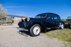 Citroen 11 cv stands on oldtimer show royalty free stock images