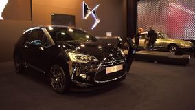 Citroen DS3 compact hatchback car stock video