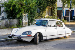 Citroen DS. FRANKFURT AM MAIN, GERMANY - SEPTEMBER 13, 2013: Motor car Citroen DS in the city street Royalty Free Stock Photo
