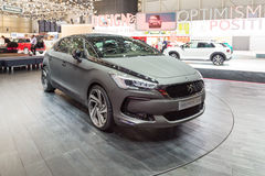 2015 Citroen DS5 Moon Dust. Geneva, Switzerland - March 4, 2015: 2015 Citroen DS5 Moon Dust presented on the 85th International Geneva Motor Show Royalty Free Stock Image