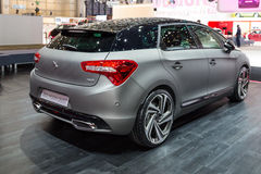 2015 Citroen DS5 Moon Dust. Geneva, Switzerland - March 4, 2015: 2015 Citroen DS5 Moon Dust presented on the 85th International Geneva Motor Show Royalty Free Stock Photos
