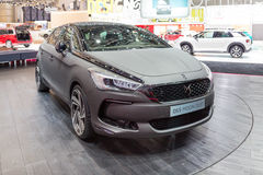 2015 Citroen DS5 Moon Dust. Geneva, Switzerland - March 4, 2015: 2015 Citroen DS5 Moon Dust presented on the 85th International Geneva Motor Show Royalty Free Stock Images