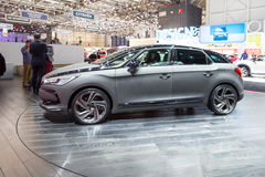 2015 Citroen DS5 Moon Dust. Geneva, Switzerland - March 4, 2015: 2015 Citroen DS5 Moon Dust presented on the 85th International Geneva Motor Show Stock Photography