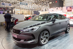 2015 Citroen DS5 Moon Dust. Geneva, Switzerland - March 4, 2015: 2015 Citroen DS5 Moon Dust presented on the 85th International Geneva Motor Show Stock Image