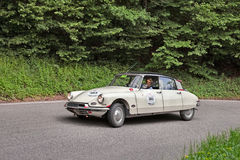 Citroen DS19 (1957) in rally Mille Miglia 2013 Stock Photography