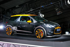 Citroen DS3. Guangzhou, China - November 26, 2011: Citroen DS3 car was exhibited in the 9th China (Guangzhou) International Automobile Exhibition in Guangzhou Royalty Free Stock Image