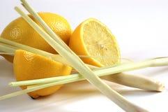 Citroen en citroen-graas Stock Afbeeldingen