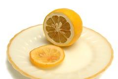 Citroen en citroenplak Stock Fotografie