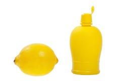 Citroen en citroenzuur Royalty-vrije Stock Foto's