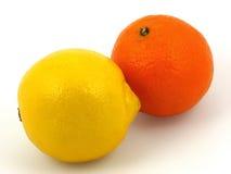 Citroen en Sinaasappel Stock Foto