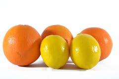 Citroen en sinaasappel Royalty-vrije Stock Afbeelding
