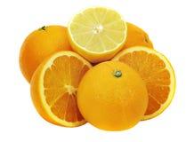 Citroen en sinaasappelen Stock Fotografie