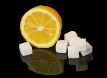 Citroen en suiker stock foto's